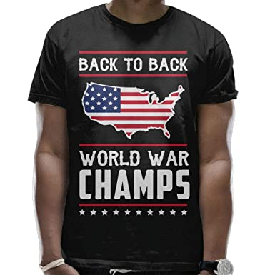 c7cf993c Amazon.com: Mens Back-to-Back World War Champs Cool Short Sleeve Tee ...