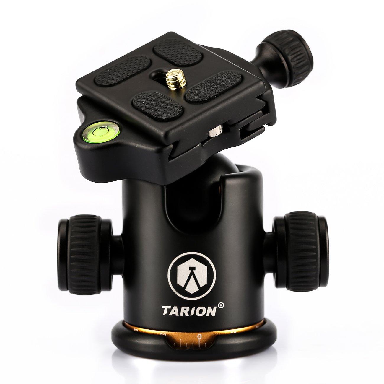 TARION Q03 Professional DSLR 360 Degree Tripod Ball Head Ballhead with Quick Release Three Control Knobs for Canon Nikon Sony Pentax Cameras or Mirrorless