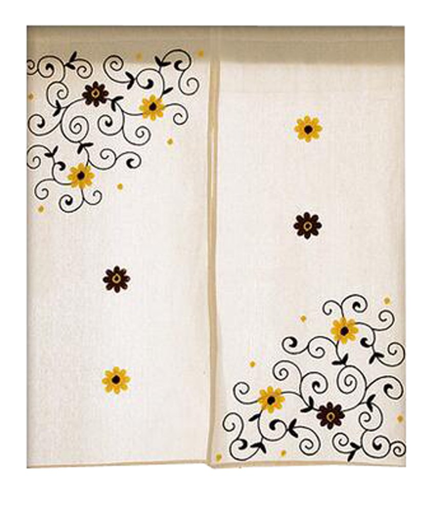 LUNA Home Decor kitchen Hanging Curtain Bedroom Doorway Curtain Dressing Room Entrance Curtain Half Screen 33.46''x59.05''(Japanese-style#03)