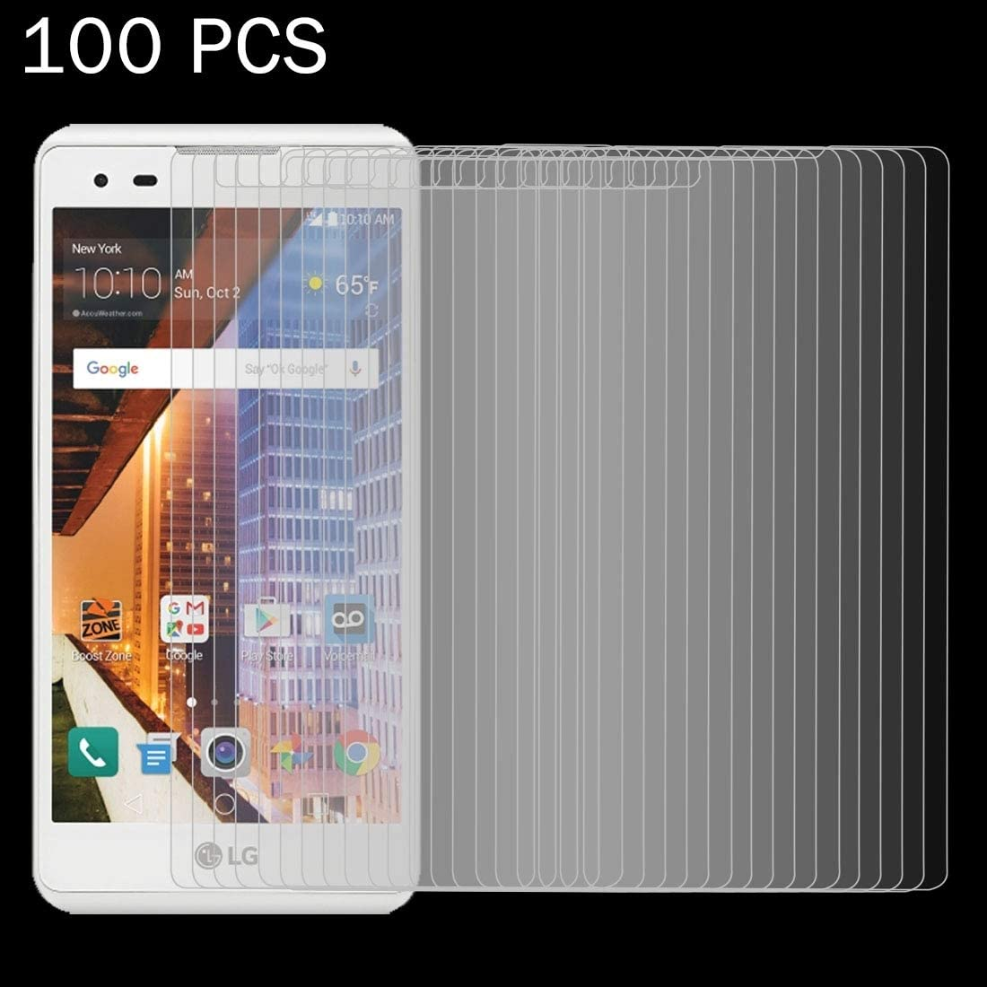 DESHENG Clear Screen Protector 100 PCS Letv Le Max 2 X820 0.26mm 9H Surface Hardness 2.5D Explosion-Proof Non-Full Screen Tempered Glass Screen Film Glass Film