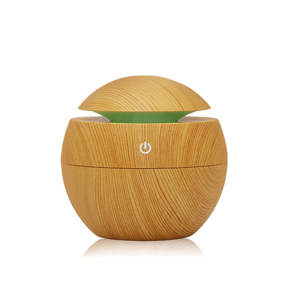 Myvision Diffuser Humidifier Essential Oil Diffuser Air Purifier Portable Grain 130ml Touch Sensitive 6 Color LED Lights Changing for Home, Office, Baby Room, Bedroom, Yoga, Spa Hotel
