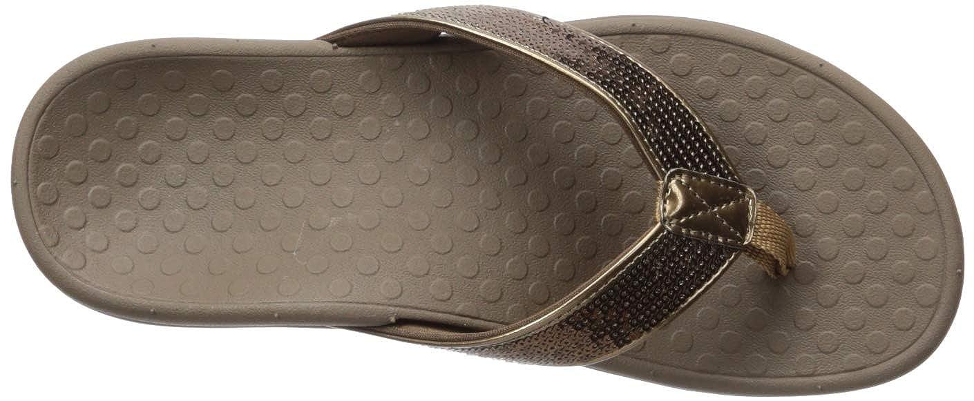 Vionic Womens Tide Sequins Toe Post Sandal