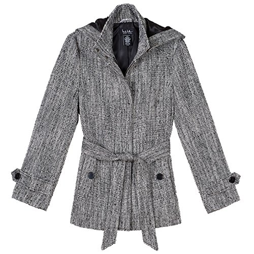 Wool Belt Tie Coat Jacket - 1
