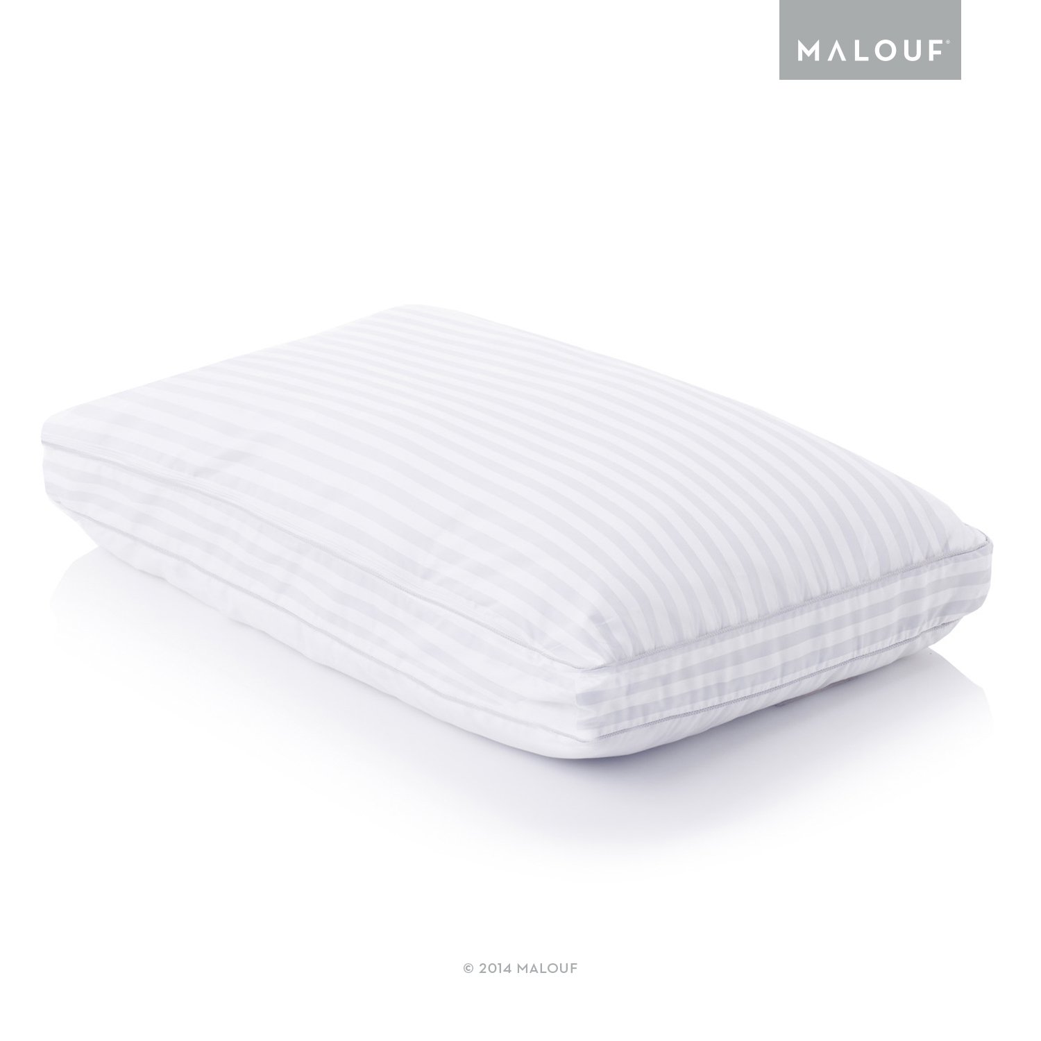 MALOUF Z by CONVOLUTION GELLED MICROFIBER with Convoluted Memory Foam Pillow - Down Alternative