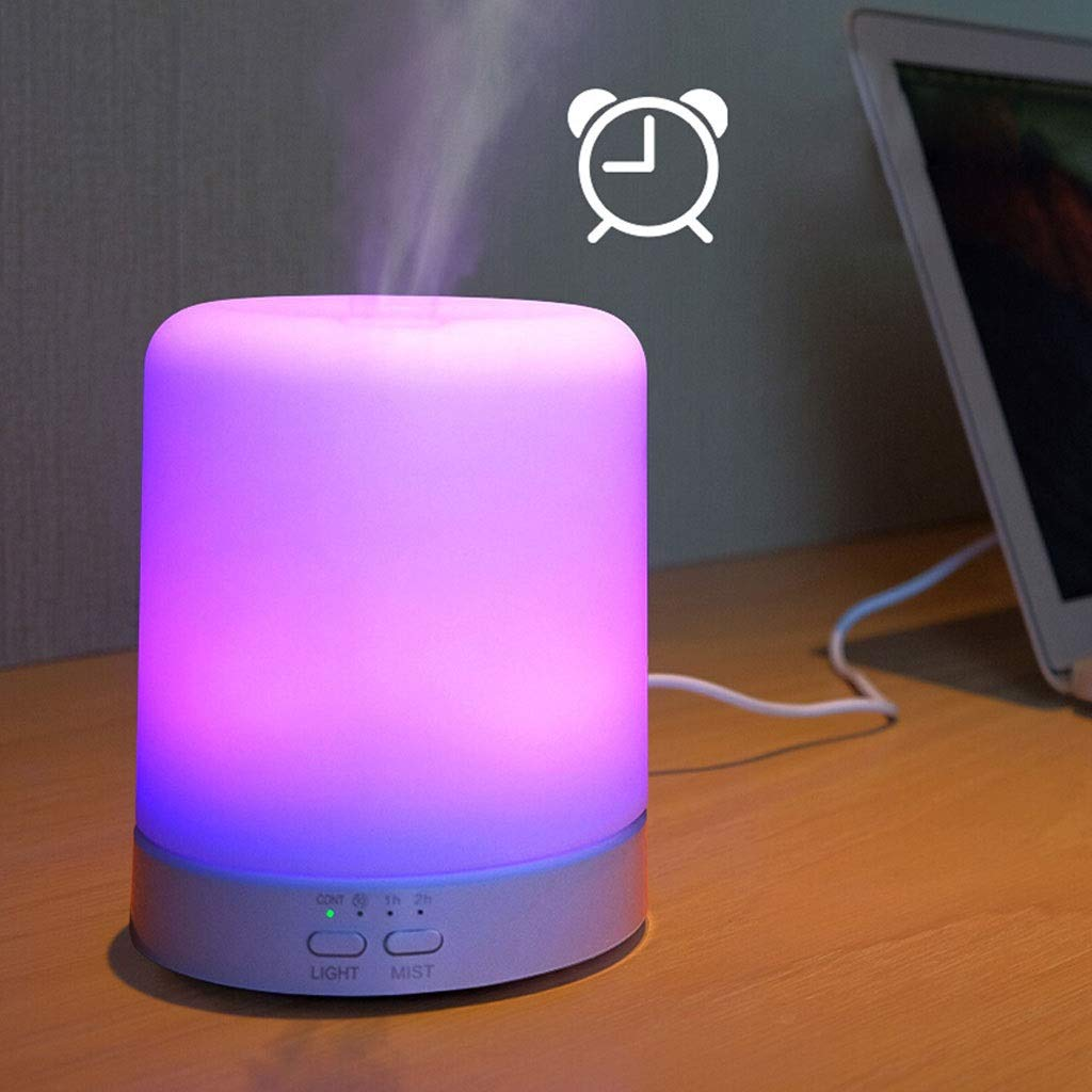 Tai-Lamp Aroma Lamps Aromatic Essential Oil Diffuser Ultrasonic 100ml Humidifier 6 Colors of Light Changed Plug in Home Aromatherapy Stove Humidifier Intelligent Timing Automatic Water-Off by Tai-Lamp (Image #3)