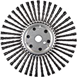 PFERD 82078 Expansion Joint Cleaning Wire Brush, Carbon Steel Wire, 12'' Diameter, 1'' Arbor Hole.035'' Wire Diameter, 6000 RPM (Pack of 2)