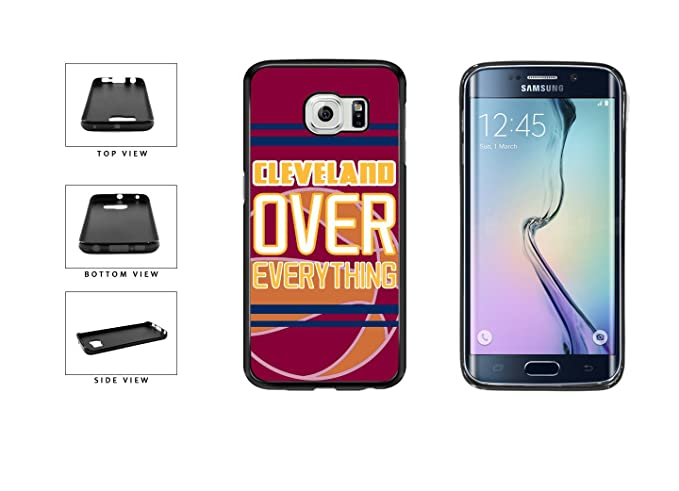 newest 06d49 5e32c Galaxy s6 Edge Rubber Case: BleuReign (TM) Cleveland Over Everything TPU  RUBBER SILICONE Phone Case Back Cover for Samsung Galaxy s6 Edge G925