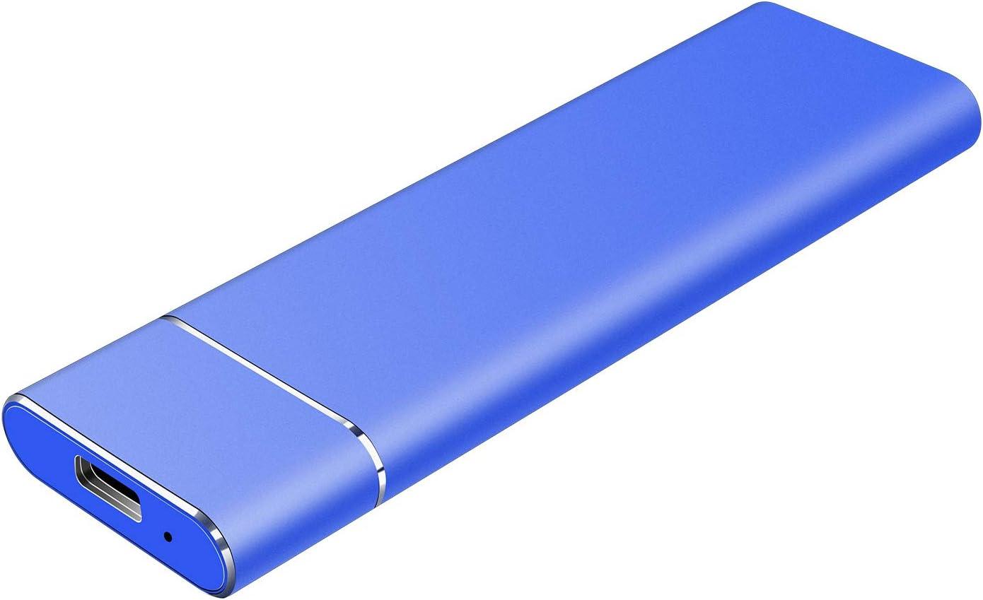 1TB 2TB External Hard Drive Portable Hard Drive - Ultra Slim Hard Drive External USB 3.1 Hard Drive Compatible with Mac,PC,Desktop,Laptop (Blue,1TB)