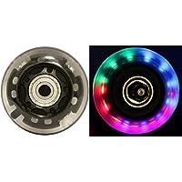 LED INLINE WHEELS 64mm 82a Skate Rollerblade Ripstik LIGHT UP 4-Pack w/ Bearings