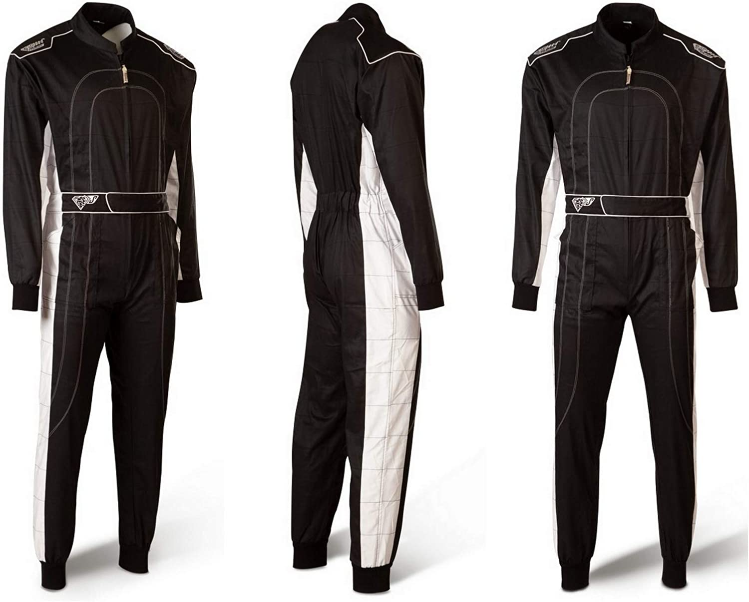 Speed Denver Hs 2 2018 Racewear Karting Overall Black White Bekleidung