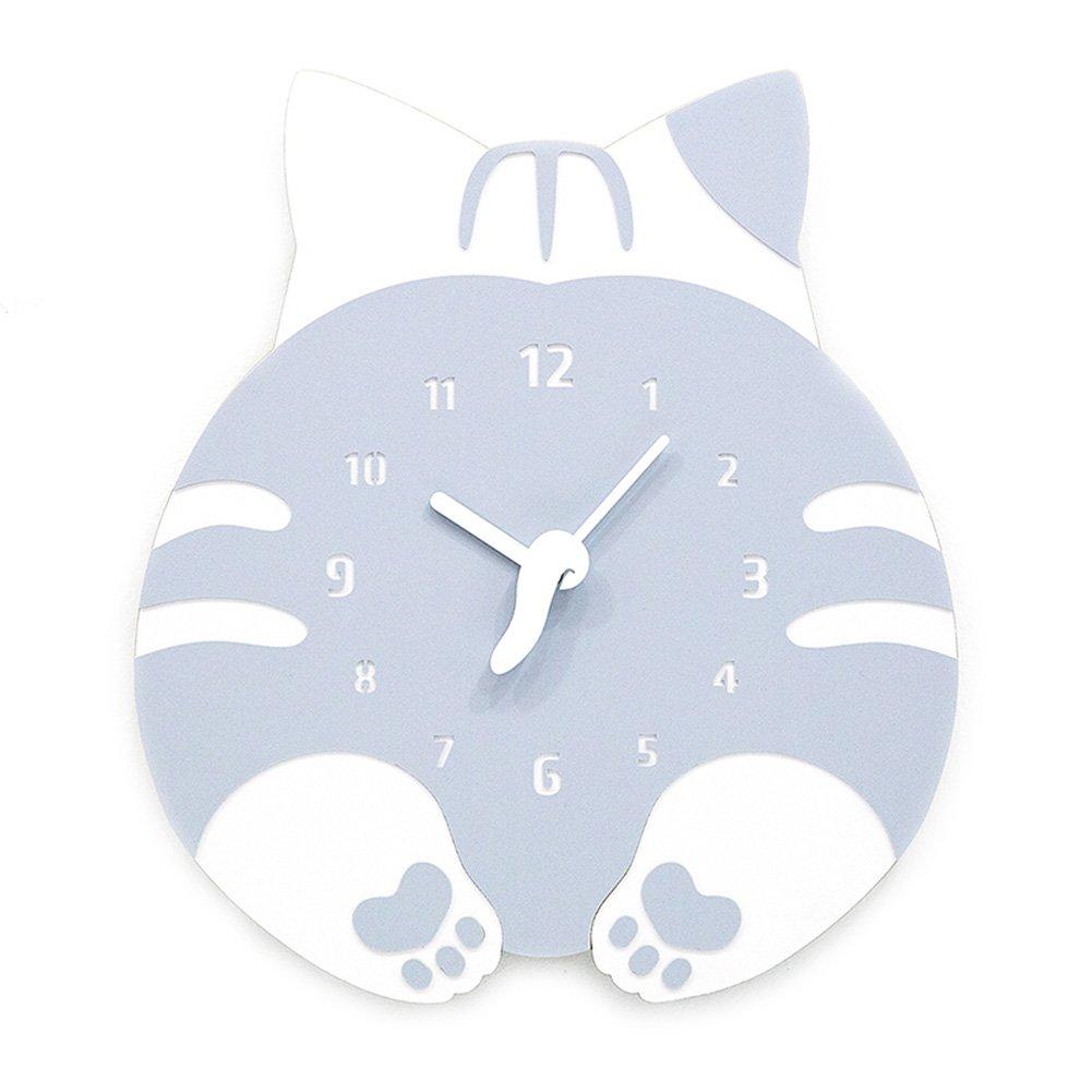 掛け時計 北欧 おしゃれ 壁掛け時計 木製 ネコ 可愛い 彫り 親子シーズン 音無し 電池式 おしゃれ 居間 寝室 オフィス 子供 親友 家族 祝い プレゼント (ネコ) B07CQYSNWT ネコ ネコ