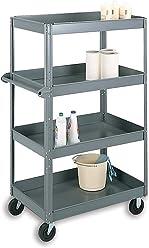 Edsal EBC42PU Welded Steel Bookcase 3 Shelves Putty 36 W x 13 D x 40 H Pre-Assembled