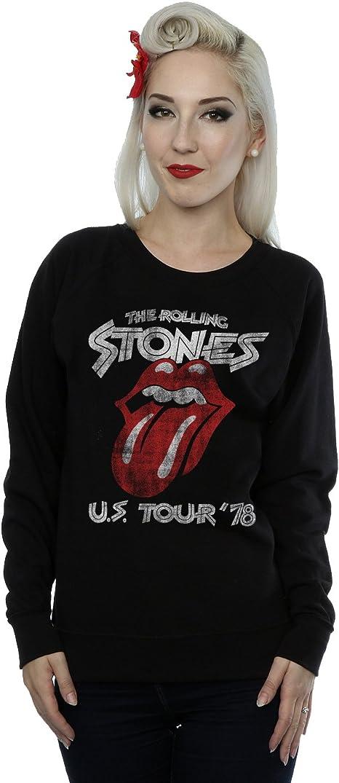 Rolling Stones Mujer US 78 Tour Camisa de Entrenamiento: Amazon.es: Ropa y accesorios