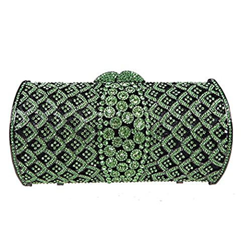 Bonjanvye Rhinestone Evening Bags For Womens Handbags And Clutches Green (Cheap Special Effects Makeup)