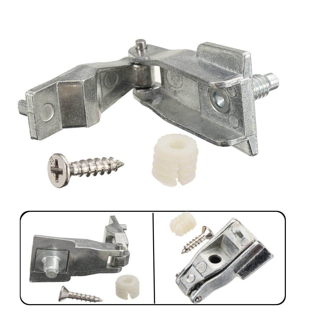 TOOGOO Kit de Reparación de Bisagras de Manejar de Puerta Exterior de Metal Cromado Os/NS para Fiat 500 51964555: Amazon.es: Coche y moto