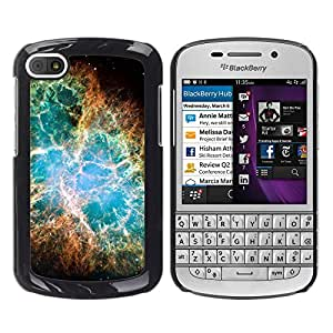 Espiral Webs Of Glory - Metal de aluminio y de plástico duro Caja del teléfono - Negro - BlackBerry Q10