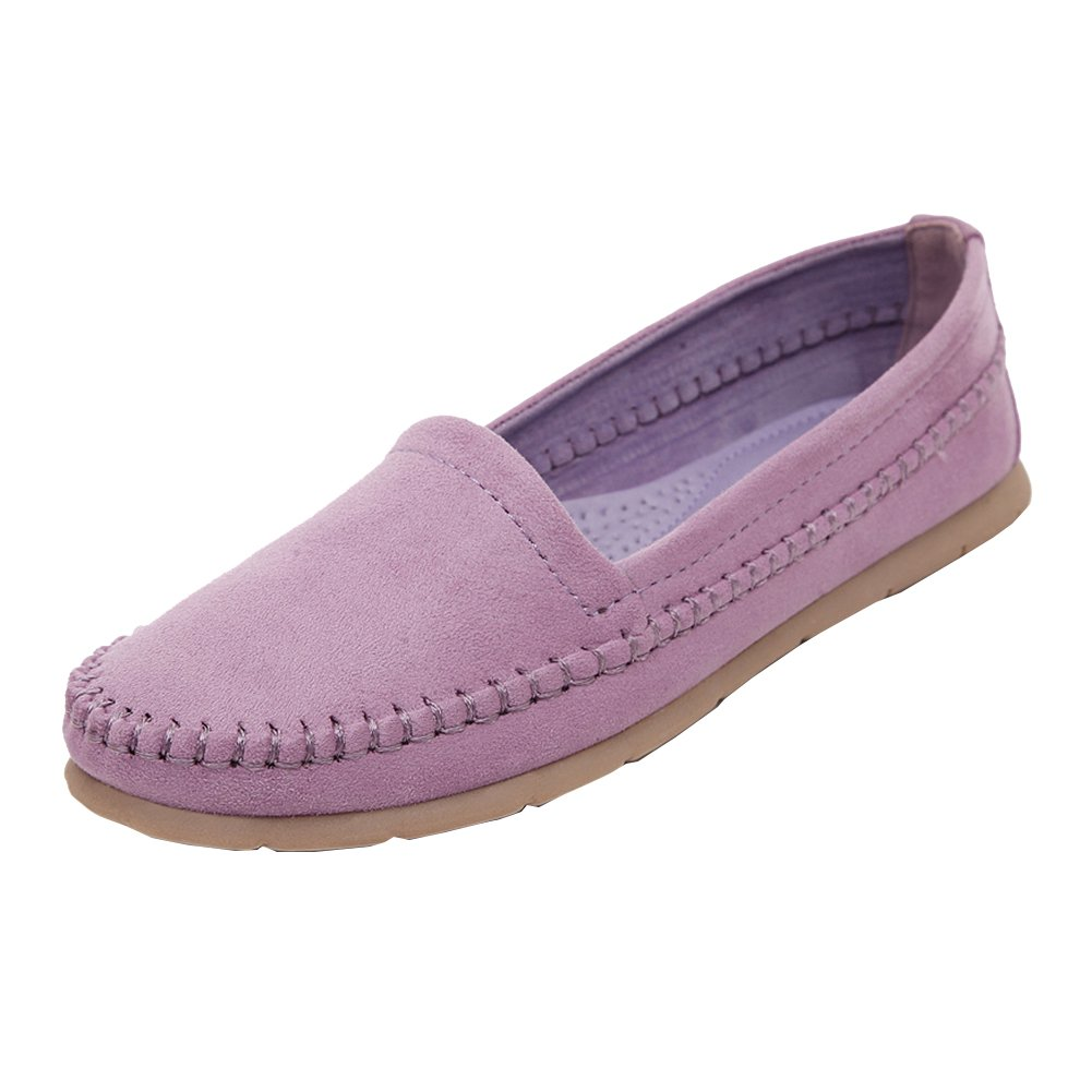 Loisirs 10276 Confort Chaussures Plates Loafers en Loafers Cuir Bateau Cuir Chaussures de Conduite Violet 1230096 - latesttechnology.space