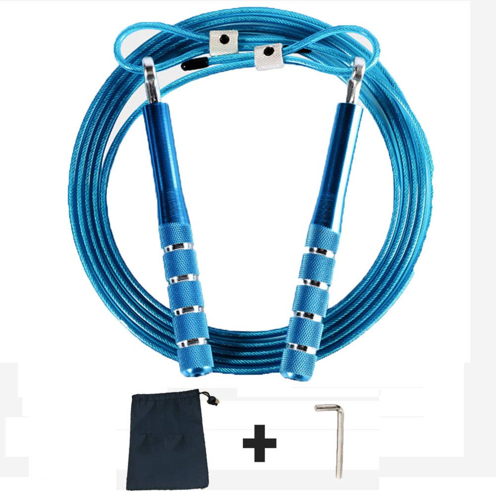 zhitao Speed Jump Rope Fast /& Smooth Anti-Slip Handles for Indoor Outdoor Skipping Ropes Training Exercise(Blue) Anti-Slip Handles for Indoor Outdoor Skipping Ropes Training Exercise/(Blue/) Premium Quality Self-Locking Adjustable Design