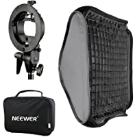 "Neewer® Softbox con Attacco Bowens e Griglia, Staffa Modello-S Flash per Nikon SB-600,SB-800,SB-900,SB-910,Canon 380EX,430EX II,550EX,580EX II,600EX-RT,Neewer TT560 Flash 24""x24""/60x60cm"