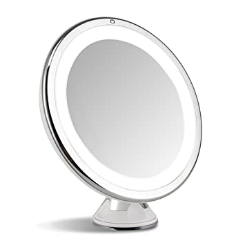 7x magnifying lighted vanity led lighted travel makeup mirrortouch activated - Lighted Vanity Mirror