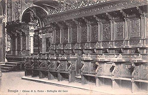 (Chiesa di S Pietro Dettaglio del Coro Perugia Holland Postcard)