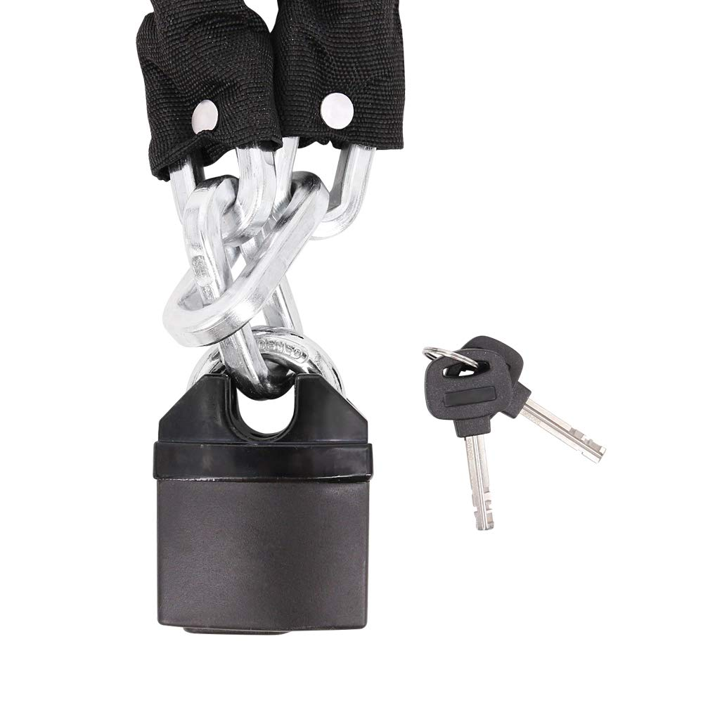 FD-MOTO 1.8M*10mm STEEL Heavy Duty Motorbike Chain Lock Padlock Sold Secure Oxford OF439 Motorcycle Ground Anchor Lock
