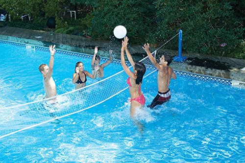 Water Sports Cross Volleyball Swimming Pool Game with Weighted Net Supports