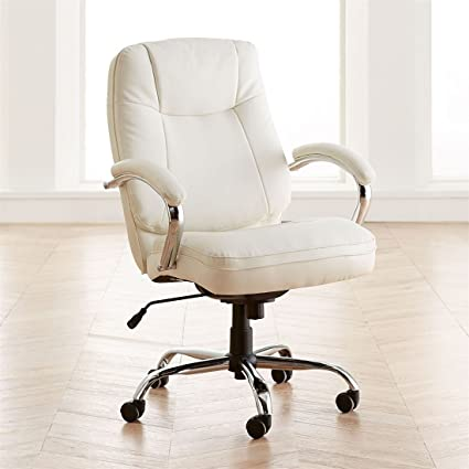 BrylaneHome Extra Wide Womanu0027s Office Chair (Ice ...