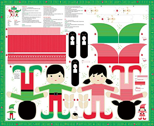 Moda The North Pole Cut and Sew Doll and Accessories Panel by United Notions and Moda Fabrics
