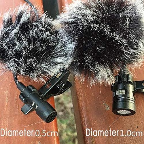 TOOGOO Universal Lavalier Mikrofon Pelz Windschutzscheibe Windschutzscheibe Wind Muff Weich f/ür Rode Revers Lavalier Mikrofon 5Mm