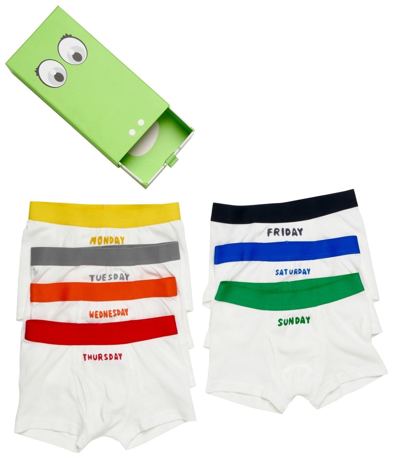 Stella McCartney Kids Boys' Arthur 7 Days Underwear Set, White, 3