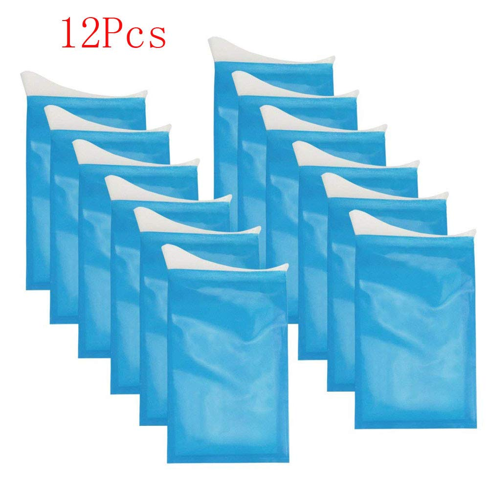 700ml Unisex Emergency Urine Bags Pee Bags 5pcs/2pcs/10pcs/12pcs Mini W.C By IKevan (12 PCS Blue)