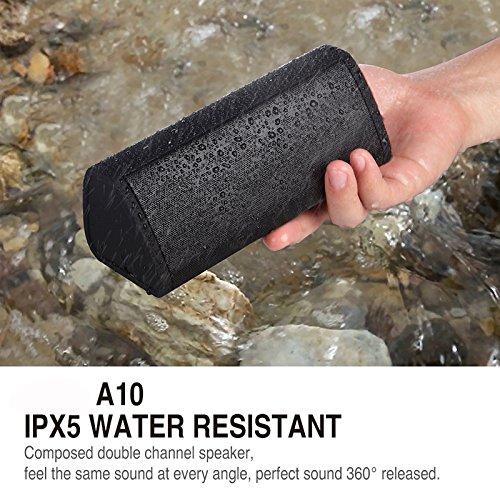 Bluetooth Speaker, BBtech Wireless Speaker Shockproof Waterproof Powerful Bass 10 W Power Perfect Wireless Speaker for Home Travel Beach Shower Splashproof (Graffity)
