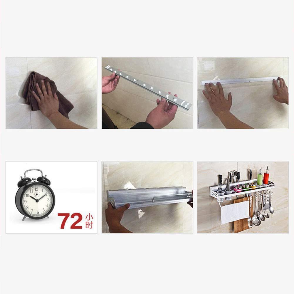 multifunktionales H/ängeregal K/üchen-Organizer Tool Holder 40cm Double Cup Elegantes ohne N/ägel Gew/ürzflaschenregal Wandregal