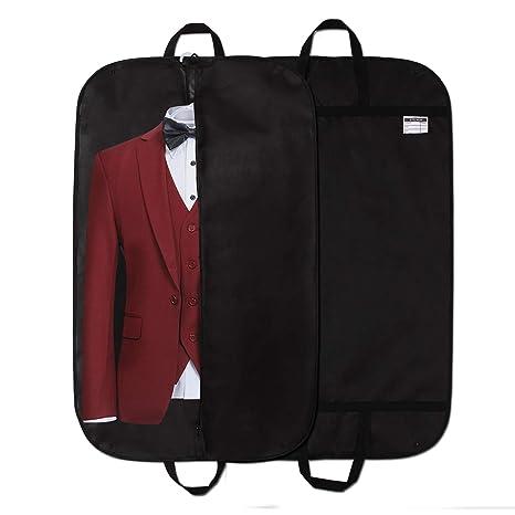 2 x Premium Kleidersack, STEVOY Hochwertige Kleiderhülle für Anzug und Kleid, Atmungsaktive Anzugtasche für Reisen, 100 x 60