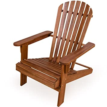 Garden Lounger Adirondack Sun Deckchair   Acacia Hard Wood Patio Sun Chair  Terrace Recliner