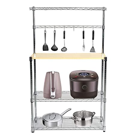 Amazon.com: livebest 4-tier Horno Microondas rack ...