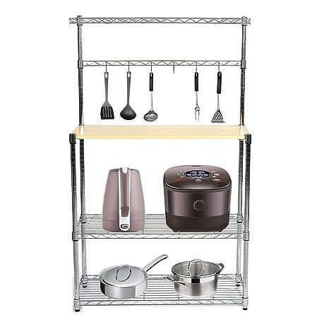 Amazon.com: livebest 4-tier Horno Microondas rack ...