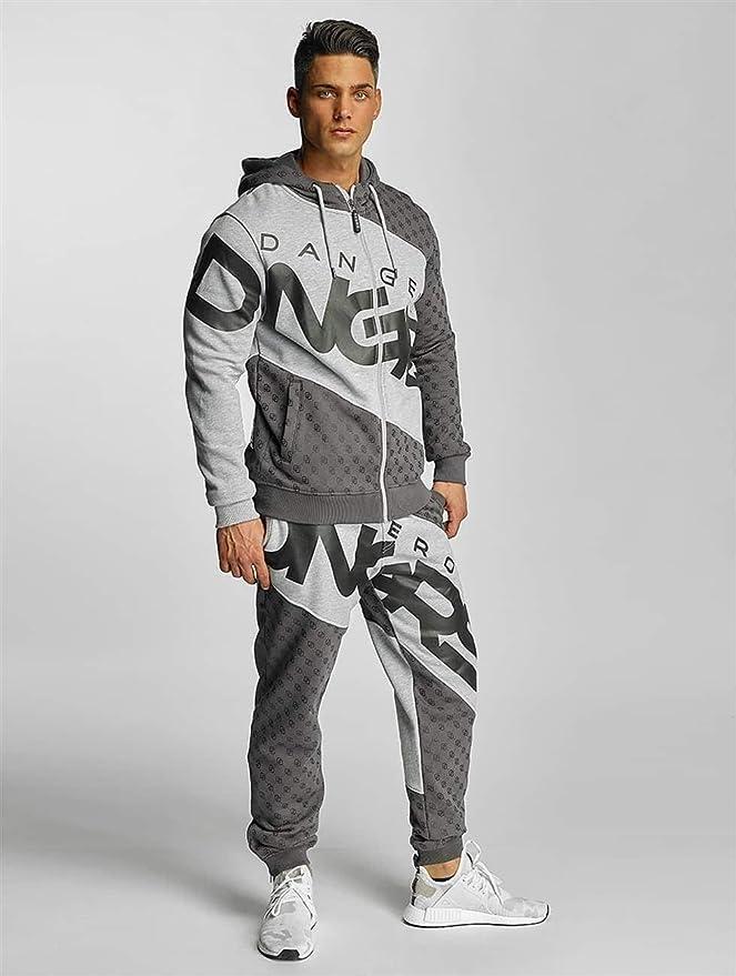 Herren Damen Unisex Jogginganzug Anzug Suit Sportanzug Jogging Dangerous Basic
