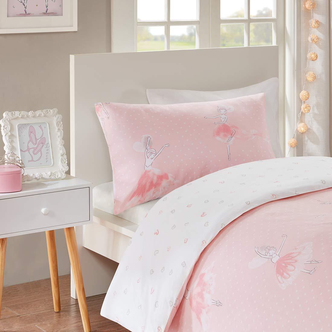 SCM bambini Amelia stampato set copripiumino e federa lusso trendy Quilt Multi-pink Singolo