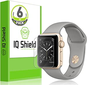 IQ Shield Screen Protector Compatible with Apple Watch Series 2 (38mm)(6-Pack) LiquidSkin Anti-Bubble Clear Film