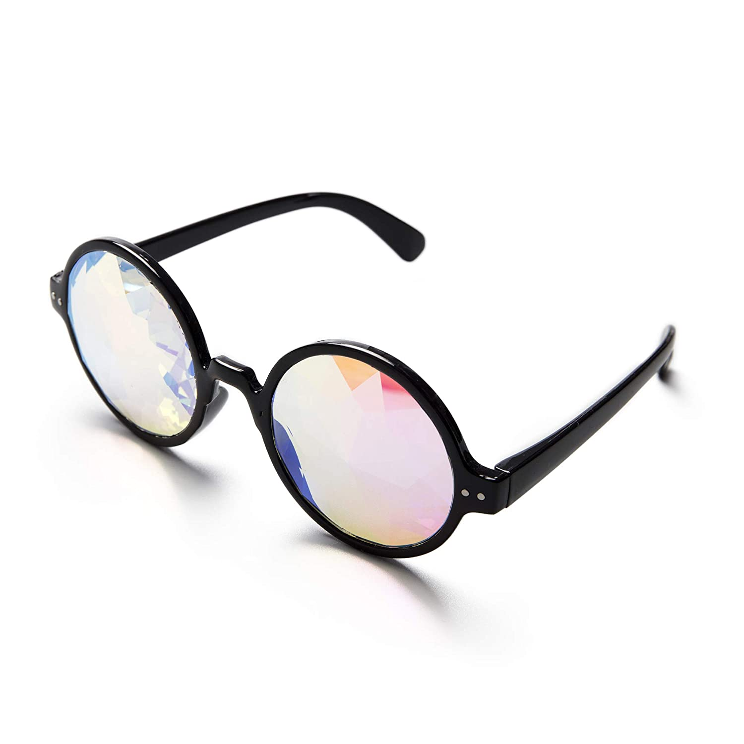 KOLCY Kaleidoscope Glasses Rainbow Prism Sunglasses Goggles Cosplay Party