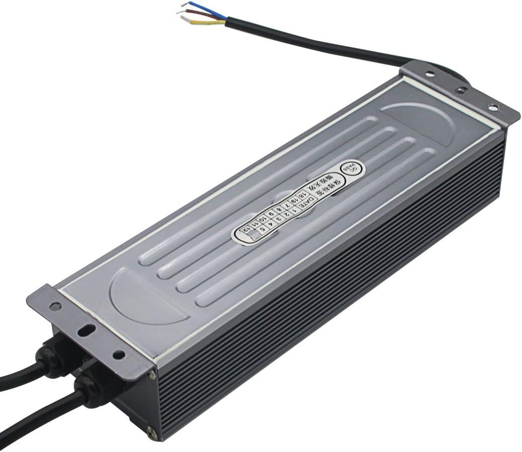 80 Watt Waterproof IP67 LED Power Supply Driver Transformer 110V AC 60Hz to 24V DC Low Voltage Output for Low Voltage Landscape Lighting Spotlight Outdoor