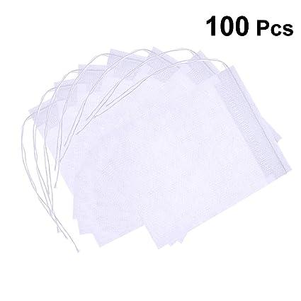 OUNONA Bolsita de te de filtro Bolsita de té de las hojas bolsas de filtro de papel 100pcs 70 * 100mm