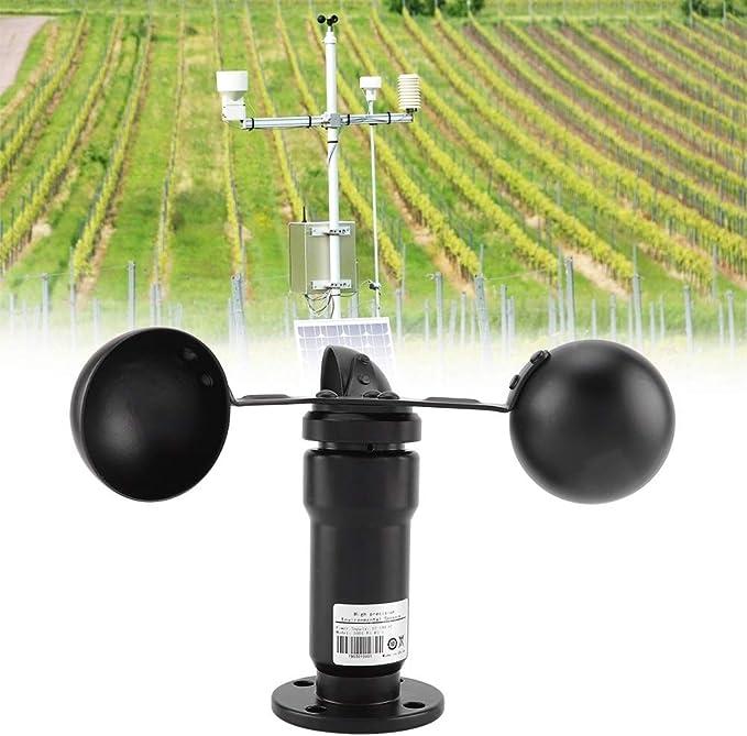 Pulse Signal Output Aluminium Alloyed Wind Speed Sensor Anemometer 3 Meter Cable