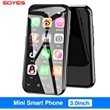SOYES XS 3.0'' Small Smartphone Android 4G WiFi GPS Google Play Super Mini Pocket Auxiliary Mobile Cell Phone (2G+16G,Black)