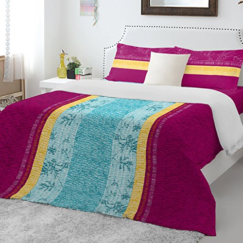 Spaces Atrium 144 TC Cotton Double Bedsheet with 2 Pillow Covers – Pink
