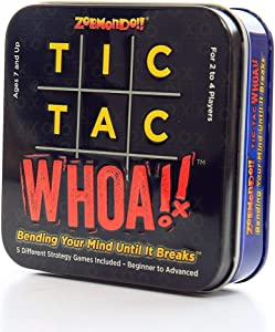 Zobmondo!! Tic Tac Whoa!! 5-in-1 Tic Tac Toe Card Game Fun for Families and Kids