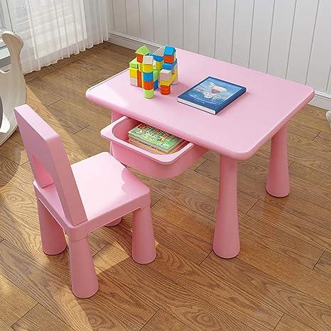 Amazon.com: Juego de mesa y silla de estudio para niños, con ...