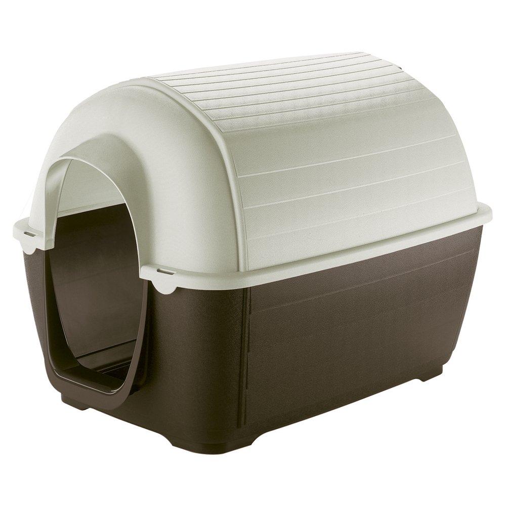 Feplast 87201921 Caseta de Exterior para Perros Kenny 03, Robusto Plástico Resistente A Los Golpes y A Los Rayos UV, Sistema de Drenaje de Líquidos, ...